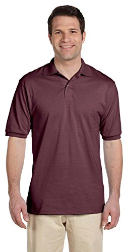 Jerzees Men's 5.6 Oz, 50/50 Jersey Polo With SpotShield, 5XL, Maroon -