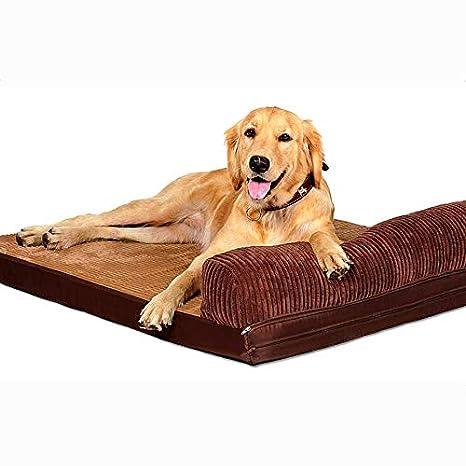 Cama para mascotas, Tela Oxford + Esponja/Perro Mediano/Grande Cuatro Estaciones del colchón de Almohada cálido y Universal, Protege la Columna Vertebral: ...