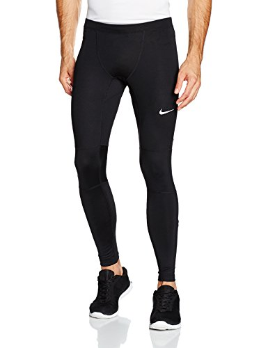 Men's Nike Dri-FIT Essential Running Tights Black/Reflective Silver Size XX-Large