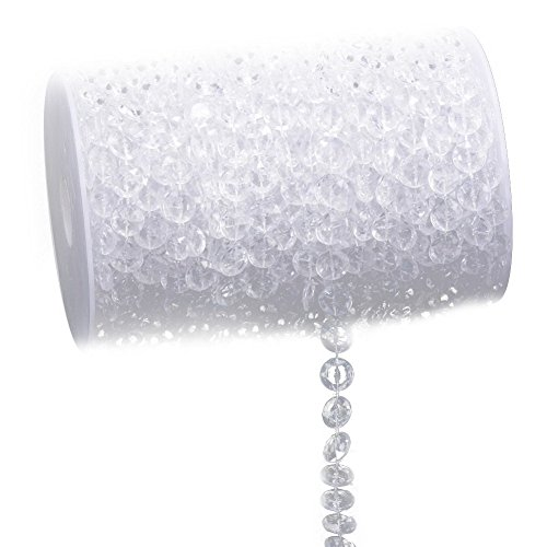 - brightric 33FT Garland Diamond Acrylic Crystal Bead Curtain Wedding DIY Party Decor