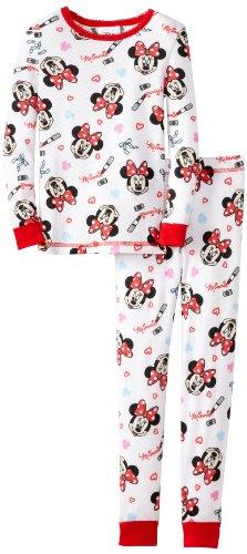 Komar Kids Girls 2-6X Minnie Tight Fitting Thermal Pajama Set