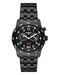 Traser 100264 Men's Big Date Alarm Black Dial Watch