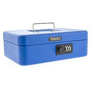 Burg Wachter CB03CBL Combination Lock Cash Box, Blue, 10″
