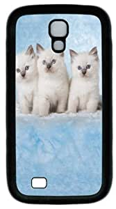 Cool Painting Samsung Galaxy I9500 Cases & Covers -Cloud Kittens PC Rubber Soft Case Back Cover for Samsung Galaxy S4/I9500