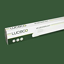 Luceco 3600 Lumen / 4000K Cool White 4ft Shatterproof Plug-in LED Shop Light (Surface/Suspended Mount Compatible)