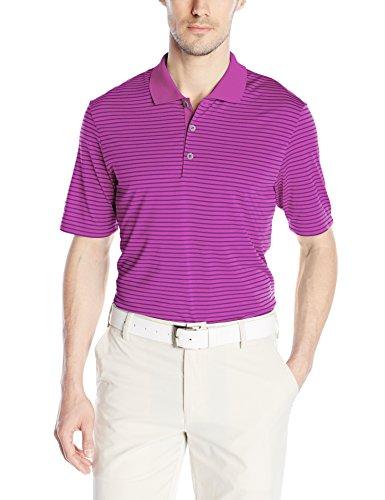 adidas Golf Mens Golf Climacool 2-Color Pencil Stripe Polo Shirt