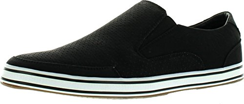 Arider Air-04 Mens Classic Low-Top Casual Comfort Slip On Sneaker Shoes,Black,8