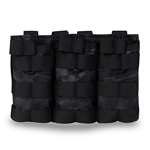 Tactical Open-Top Triple MOLLE Rifle AR AK Mag Pouch for sale  Delivered anywhere in Canada