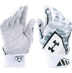 UNDER ARMOUR Yard Undeniable Baseball Batting Gloves (アンダーアーマー ヤード アンディナイアブル バッティング グローブ)4色/4Colors [並行輸入品] B01ENRK122White/Black M(24cm-25cm)