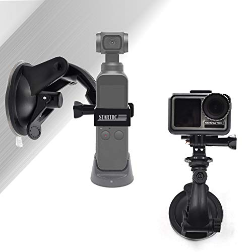 STARTRC OSMO Pocket Suction Cup Mount, Full Rotation Car Windshield Window Mount for DJI OSMO Pocket/OSMO Action Camera Accessories