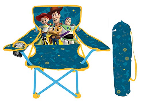 41nd7YFW 4L - Jakks Pacific Toy Story 4 Camp Chair for Kids, Portable Camping Fold N Go Chair with Carry Bag
