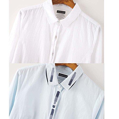 Chemise en coton à manches longues Leisure Blouses Blouses Blouse, # 17