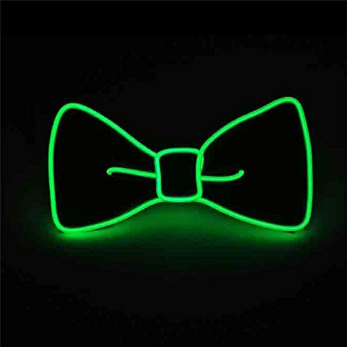 Pajarita luminosa neón con luces led verde