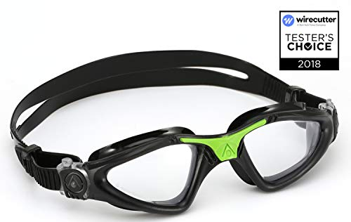 Aqua Sphere Kayenne Swim Goggles with Clear Lens (Black/Green)