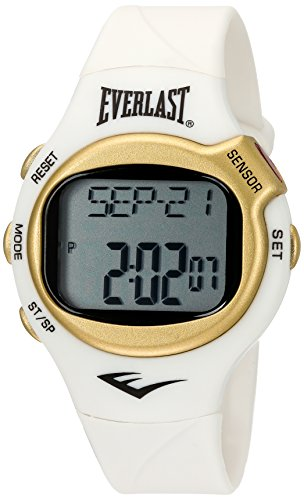 Everlast 'Heart Rate Monitor' Automatic Plastic and Rubber Fitness Watch, Color:White (Model: EVWHR005G-WT) (White Watch Calendar Automatic)