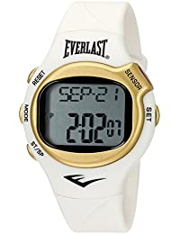 'Heart Rate Monitor' Automatic Plastic and Rubber Fitness Watch, Color:White (Model: EVWHR005G-WT)