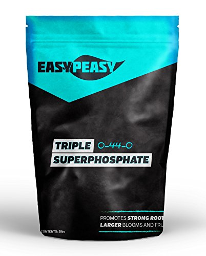 Triple Super Phosphate 0-46-0 Easy Peasy Plants 99% pure (5lb)