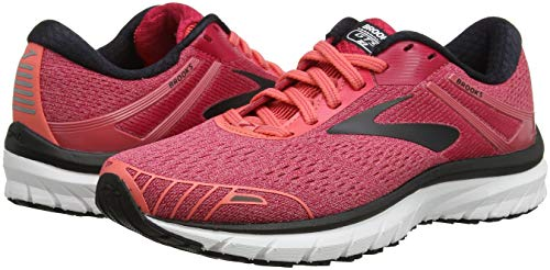 Adrenaline 612 Brooks coral black pink De 18 Rose Gts Running Chaussures Femme BnPxZn