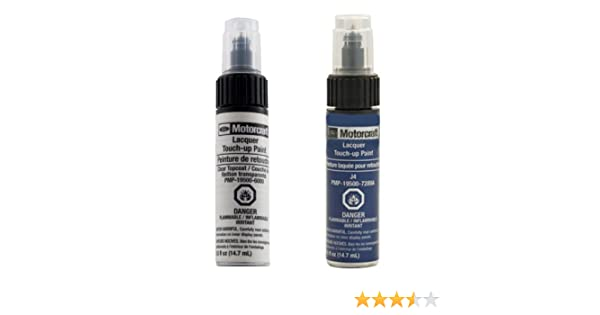 Amazon.com: Genuine Ford Motorcraft Touch Up Paint Deep Impact Blue J4 & Clear Top Coat Two Bottle Kit: Automotive