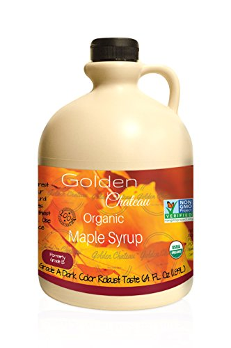 (Golden Chateau Organic Maple Syrup Grade A Dark Color Robust Taste/formerly Grade B, 64 oz)