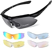 Yellow-Price Cycling Glasses, TR90 Unbreakable Frame Polarized Sports Sunglasses, Bike Glasses for Men Women w