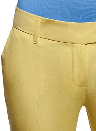 Stretch Algodón De Amarillo Mujer Pantalones Oodji Collection 5200n gxwPXqnzI