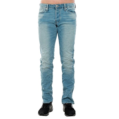 045 amp; Knit Denim Jones Cr Jack Jjiglenn 12135754 Indigo Hombre Blue Jjicon Jeans Azul zTqgwd
