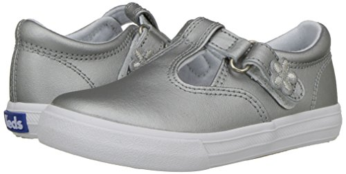 Keds Daphne T-Strap Sneaker (Toddler/Little Kid), Silver/Silver, 5.5 M US Toddler by Keds (Image #6)