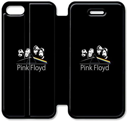 Flip étui en cuir PU Stand pour Coque iPhone 5 5S, bricolage 5 5S étui de téléphone cellulaire Pink Floyd A4V7BQ Griffin Coque iPhone Housse en cuir