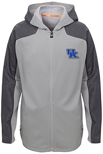 NCAA Kentucky Wildcats Youth Boys Delta Full Zip Jacket, Magna Pique Heather, Youth (Wildcats Magna)