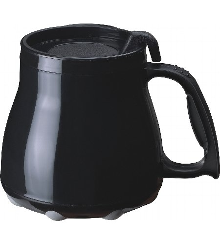 Low Rider No Tip Desk Mug - Black