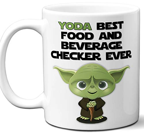 Funny Gift For Food And Beverage Checker. Yoda Best Employee Ever. Cute, Star Wars Themed Unique Coffee Mug, Tea Cup Idea for Men, Women, Birthday, Christmas, Coworker. ()