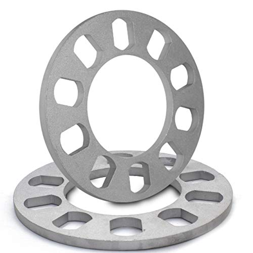 8mm Thickness Universal Wheel Spacers for 5x100mm, 5x105mm, 5x108mm (5x4.25), 5x110mm, 5x112mm, 5x114.30mm (5x4.50), 5x115mm, 5x120.65mm (5x4.75), 5x120mm (2018 Mustang Gt Wheels)