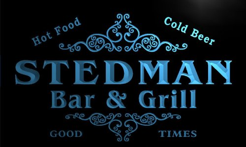 u43014-b STEDMAN Family Name Bar & Grill Home Decor Neon Light Sign