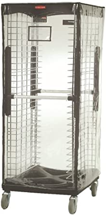 Rubbermaid Commercial FG9F9000CLR Vinyl Rack Cover, Clear