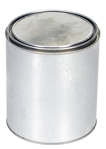 Vestil MRC-64 Tin Plated Steel Round Can with Metallic Lid, 5-13/32