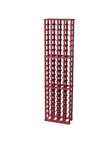 Traditional Premium Redwood Wine Rack for 84 Wine Bottles, 4-Column, Classic Mahogany Stained by Wine Cellar Innovation