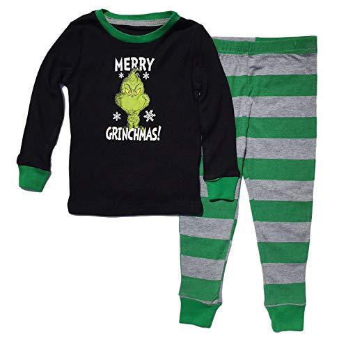 Dr Seuss Grinch Little Boys Toddler Cotton Pajama