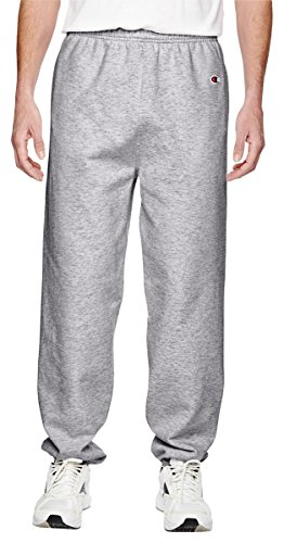 Champion Men's Cotton Max Fleece Pant, Athletic Heather (Large)