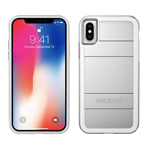 iPhone X Case | Pelican Protector iPhone X Case (Metallic Silver)