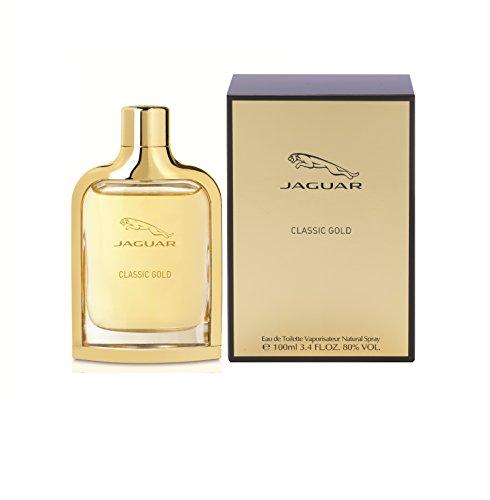Jaguar Classic Gold Eau de Toilette Spray for Men, 3.4 Ounce by Jaguar