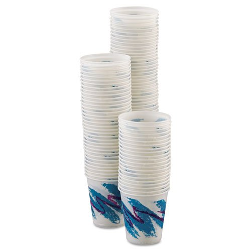 SOLO Cup Company - Jazz Waxed Paper Cold Cups, 3oz, Rolled Rim, 100/Bag, 50 Bags/Carton R3J (DMi CT