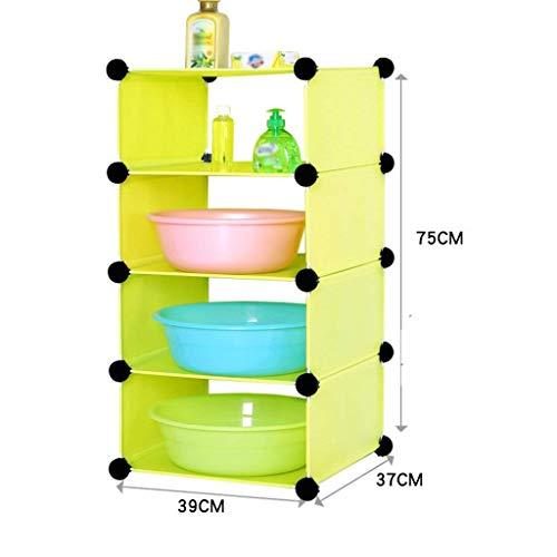 vertice Easy Household Storage Holder Stable Bathroom Shelf Bathroom Plastic Wc Toilets Bathroom Reception Satisfied Frame Washbasin Landing, Green