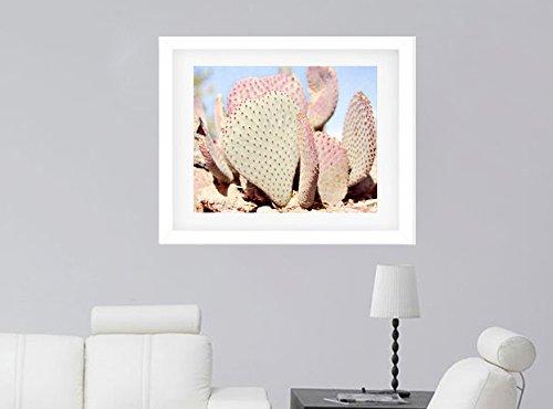 Pastel Cactus Art Print, Southwestern Shabby Chic Wall Art, Tropical Wall Decor Desert Picture, Baby Girls Room Bedroom Bathroom Wall Art Picture