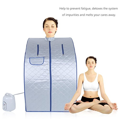 Homgrace Portable Personal Folding Home Steam Sauna, Full Body Slimming Loss Weight Detox Therapy