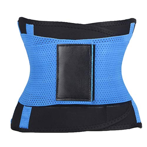 AVENBER Women's Latex Corset Waist Trainer Body Shaper Breathable Vest Gridle Fitness Sweat Burning for Lose Weight Blue