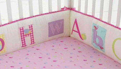 4c68169b032 Amazon.com   Laura Ashley Baby Owlphabet 4 piece Bumper Set   Crib Bedding    Baby