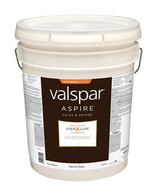 Valspar Aspire Paint Acrylic Exterior Semi Gloss Neutral Base 5 Gl Low Voc Household Paints And
