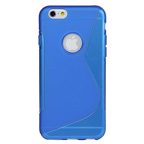 Monkey Cases® iPhone 6 - 4,7 Zoll - S Shape TPU Case for iPhone 6 - Silikon - BLAU - Handyhülle - ORIGINAL - NEU/OVP