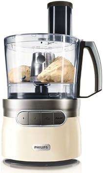 Philips HR7781/10 Robust - Robot de cocina (con varillas batidoras, picador y discos accesorios, 1200 W), color crema: Amazon.es: Hogar
